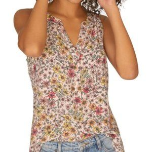Sanctuary Floral Sleeveless Blouse Top Small